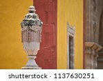 colonial architecture detail of ... | Shutterstock . vector #1137630251