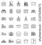 thin line vector icon set  ... | Shutterstock .eps vector #1137630671