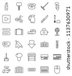 thin line vector icon set  ... | Shutterstock .eps vector #1137630971