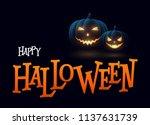 banner cartoon halloween... | Shutterstock .eps vector #1137631739