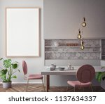 dining room and kitchen... | Shutterstock . vector #1137634337