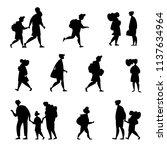 set character different student ... | Shutterstock .eps vector #1137634964