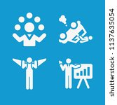 people related set of 4 icons... | Shutterstock . vector #1137635054