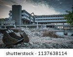 demolished and abandoned... | Shutterstock . vector #1137638114