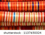 colorful indian bangles... | Shutterstock . vector #1137650324