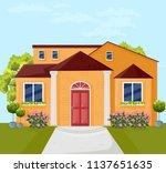 house architecture facade... | Shutterstock .eps vector #1137651635
