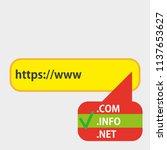domain checker website process... | Shutterstock .eps vector #1137653627