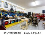 garage with work tools for... | Shutterstock . vector #1137654164