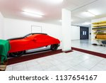 garage with luxury sports cars. ... | Shutterstock . vector #1137654167
