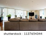 modern living room with large... | Shutterstock . vector #1137654344