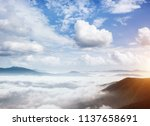 picturesque morning moment in... | Shutterstock . vector #1137658691