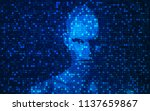 concept of artificial... | Shutterstock .eps vector #1137659867