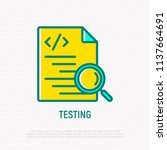 testing software  code with... | Shutterstock .eps vector #1137664691