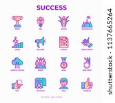success thin line icons set ... | Shutterstock .eps vector #1137665264