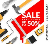 home repair tools set isolated... | Shutterstock .eps vector #1137665654