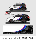vehicle graphic kit. abstract... | Shutterstock .eps vector #1137671504