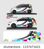 vehicle graphic kit. abstract... | Shutterstock .eps vector #1137671621