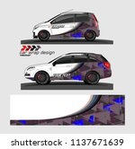 vehicle graphic kit. abstract... | Shutterstock .eps vector #1137671639