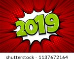 2019 happy new year christmas... | Shutterstock .eps vector #1137672164