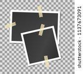 vector mock up of empty photo... | Shutterstock .eps vector #1137673091