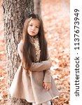 beautiful kid girl 4 5 year old ...   Shutterstock . vector #1137673949