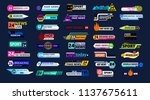 big set of news bar isolated on ... | Shutterstock .eps vector #1137675611