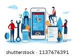 developers create the startup... | Shutterstock .eps vector #1137676391