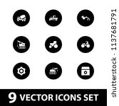 machinery icon. collection of 9 ...   Shutterstock .eps vector #1137681791