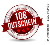 10 euro coupon button   online...   Shutterstock .eps vector #1137693419