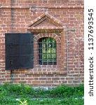 russian architecture. window in ... | Shutterstock . vector #1137693545