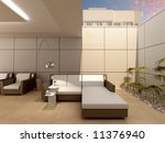drawing room from a patio. 3d... | Shutterstock . vector #11376940