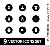 wear icon. collection of 9 wear ...   Shutterstock .eps vector #1137694445