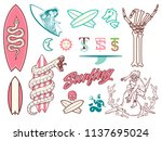 surf bundle colored is a vector ... | Shutterstock .eps vector #1137695024