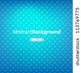 blue abstract vector background ... | Shutterstock .eps vector #113769775