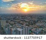 beautiful sunset in karachi