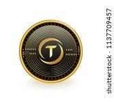 trueusd cryptocurrency black... | Shutterstock .eps vector #1137709457