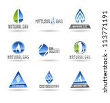 set of gas energy icons.... | Shutterstock .eps vector #113771191