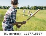 side view of teenage boy... | Shutterstock . vector #1137715997