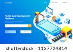 mobile app development platform ... | Shutterstock .eps vector #1137724814