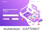 isometric illustration of... | Shutterstock .eps vector #1137724817