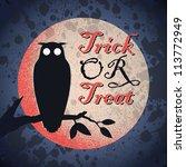 vintage grungy halloween design ... | Shutterstock .eps vector #113772949
