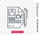 curriculum vitae vector icon... | Shutterstock .eps vector #1137743111