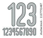 set of stylish disco vector... | Shutterstock .eps vector #1137751487