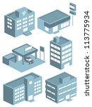 building icon set | Shutterstock .eps vector #113775934