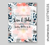 floral wedding invitation... | Shutterstock .eps vector #1137765131