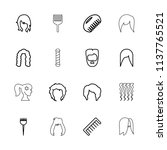 hairstyle icon. collection of... | Shutterstock .eps vector #1137765521
