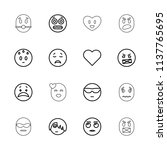 emotion icon. collection of 16... | Shutterstock .eps vector #1137765695