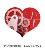 heart insurance abstract... | Shutterstock .eps vector #1137767921