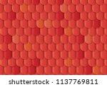 red beautiful vector roof tile... | Shutterstock .eps vector #1137769811