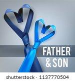father son love necktie. | Shutterstock .eps vector #1137770504